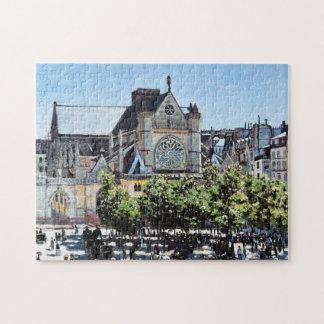 Saint Germain l'Auxerrois Claude Monet Puzzle