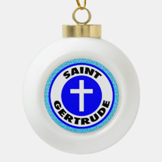 Saint Gertrude Ceramic Ball Decoration