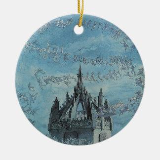 Saint Giles - His Bells by Charles Altamont Doyle Round Ceramic Decoration