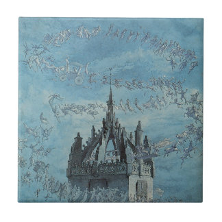 Saint Giles - His Bells by Charles Altamont Doyle Small Square Tile