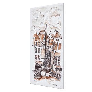 Saint-Goustan Port, Auray | Brittany, France Canvas Print