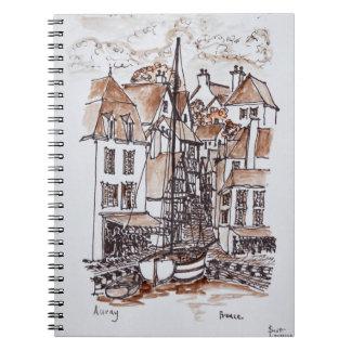 Saint-Goustan Port, Auray | Brittany, France Spiral Notebook