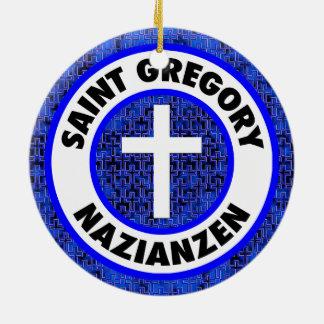 Saint Gregory Nazianzen Round Ceramic Decoration