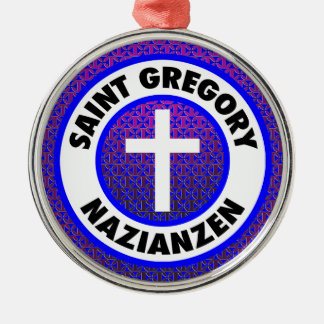 Saint Gregory Nazianzen Silver-Colored Round Decoration
