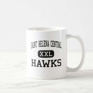 Saint Helena Central - Hawks - High - Greensburg Basic White Mug