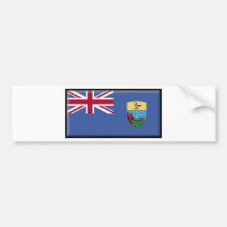 Saint Helena Flag Bumper Sticker