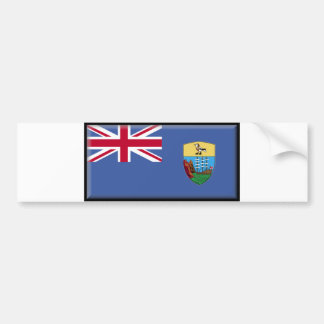 Saint Helena Flag Bumper Sticker