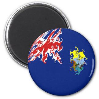 Saint Helena Gnarly Flag 6 Cm Round Magnet