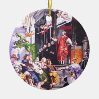 Saint Ignatius Loyola Christmas Ornament