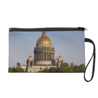 Saint Isaac Cathedral, from the Neva River Wristlet Purse