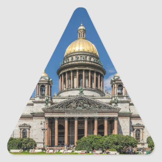Saint Isaac's Cathedral in Saint Petersburg Russia Triangle Sticker