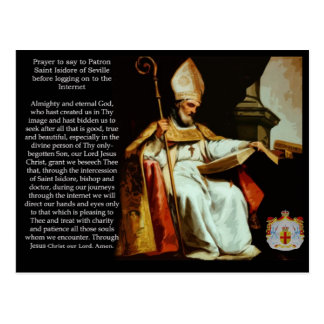 Saint Isidore of Seville Post Card