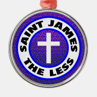 Saint James the Less Silver-Colored Round Decoration