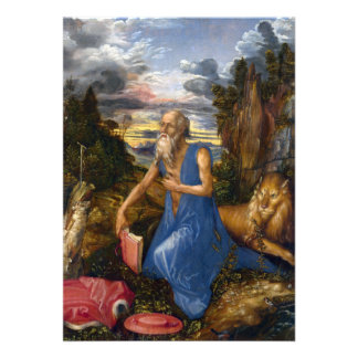 Saint Jerome in the Wilderness by Durer Custom Invites