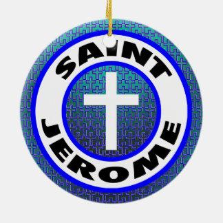 Saint Jerome Round Ceramic Decoration