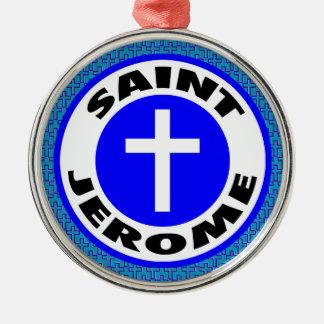Saint Jerome Silver-Colored Round Decoration