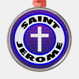 Saint Jerome Silver-Colored Round Decoration