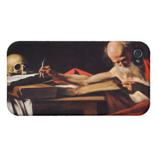 Saint Jerome Writing by Michelangelo Caravaggio Cases For iPhone 4