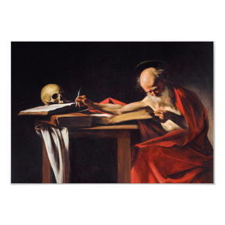 Saint Jerome Writing by Michelangelo Caravaggio Personalized Invites