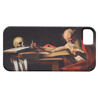 Saint Jerome Writing by Michelangelo Caravaggio iPhone 5 Case