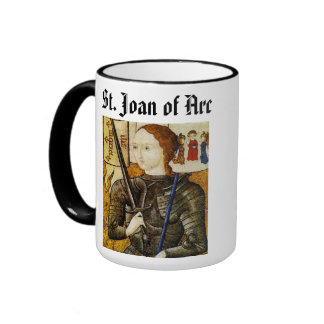 Saint Joan of Arc* Cup / Sainte Jeanne d'Arc Coupe Ringer Coffee Mug
