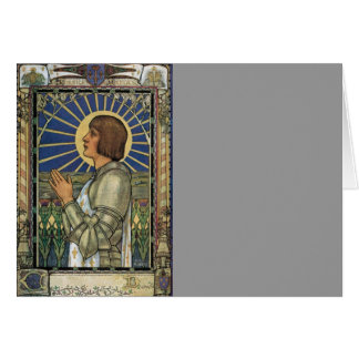 Saint Joan of Arc Stained Glass Image Card
