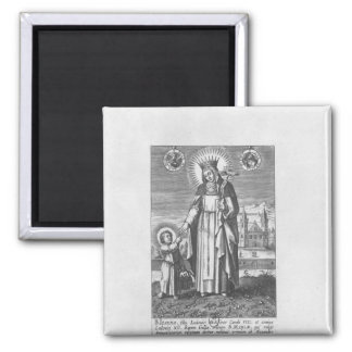 Saint Joan of France and Valois Square Magnet