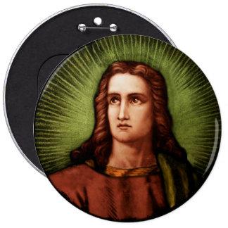 Saint John 6 Cm Round Badge