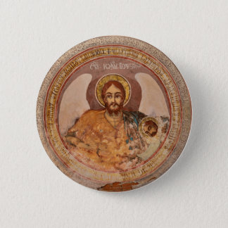 saint john baptist religion orthodox church icon 6 cm round badge