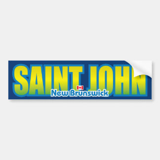 Saint John Bumper Car Bumper Sticker