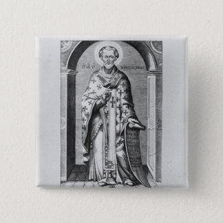 Saint John Chrysostome, 17th century 15 Cm Square Badge