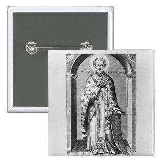 Saint John Chrysostome, 17th century 15 Cm Square Badge