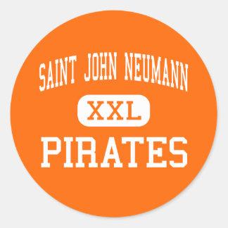 Saint John Neumann - Pirates - High - Philadelphia Round Sticker