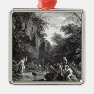 Saint John preaching in the Wilderness Christmas Ornament