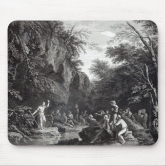 Saint John preaching in the Wilderness Mouse Mat
