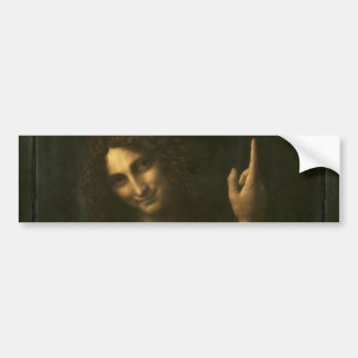Saint John the Baptist by Leonardo da Vinci Bumper Sticker