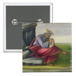 Saint John the Divine on Patmos, Writing the Book 15 Cm Square Badge