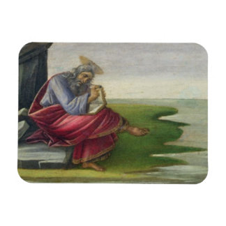 Saint John the Divine on Patmos, Writing the Book Rectangular Photo Magnet
