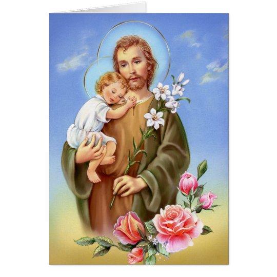 """Saint Joseph feast day"" ""little saints of spring"" Card"