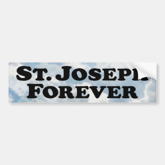Saint Joseph Forever - Basic Bumper Sticker