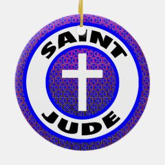 Saint Jude Round Ceramic Decoration
