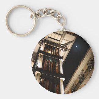 Saint Justa Elevator, Lisbon, Portugal Basic Round Button Key Ring