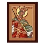 Saint Katherine Prayer Card Post Card