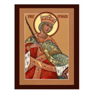 Saint Katherine Prayer Card Postcard