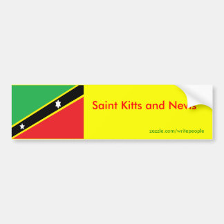 Saint Kitts and Nevis Bumper Sticker
