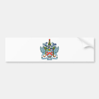 Saint Kitts and Nevis Coat of Arms Bumper Sticker