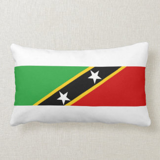 saint kitts and nevis country flag nation symbol lumbar pillow