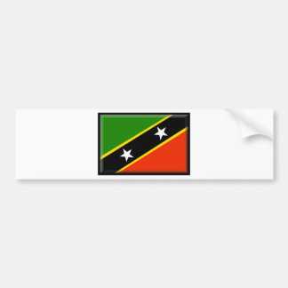 Saint Kitts and Nevis Flag Bumper Stickers
