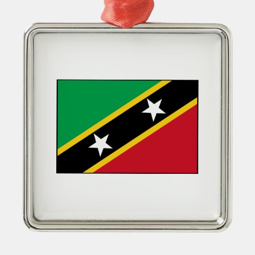 Saint Kitts and Nevis Flag Ornament