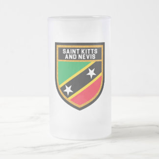 Saint Kitts And Nevis Flag Frosted Glass Beer Mug